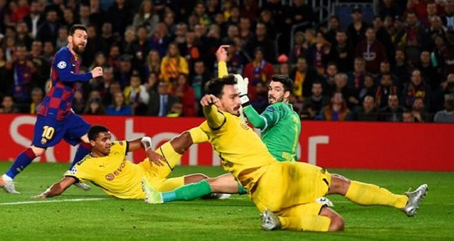 Barcelona mengalahkan Borussia Dortmund 3-1 di Camp Nou, Kamis (2811/2019) dini hari WIB.