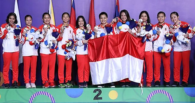 Tim badminton putri SEA Games 2019.