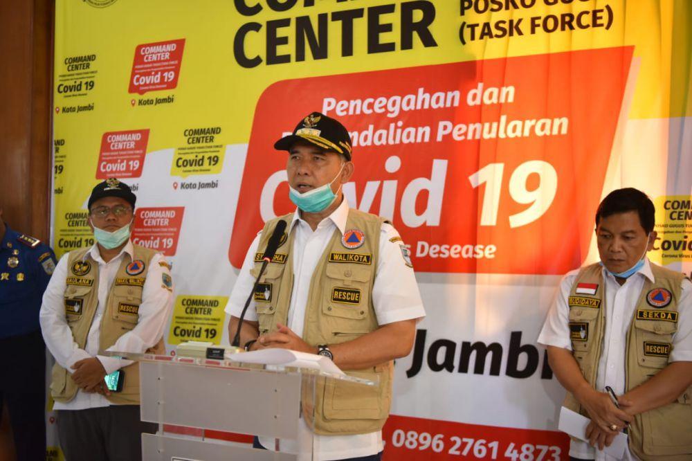 Walikota Jambi Sy Fasha yang juga Ketua Gugus Tugas Percepatan Penanganan Covid-19 Kota Jambi.
