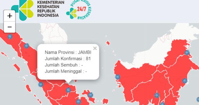 Screenshot dari http://pusatkrisis.kemkes.go.id/covid-19-id/.