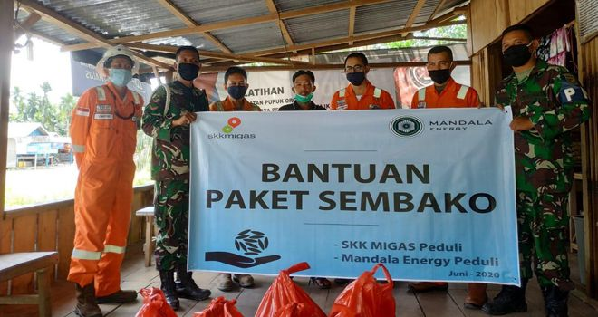 SKK Migas Bersama KKKS Mandala Energy Lemang Pte. Ltd. Kembali Salurkan Bantuan Sembako