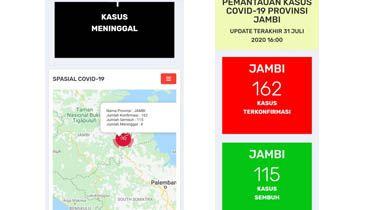 Pasien Terkonfirmasi Covid19 di Jambi Bertambah 6 Orang, Total Kasus 162