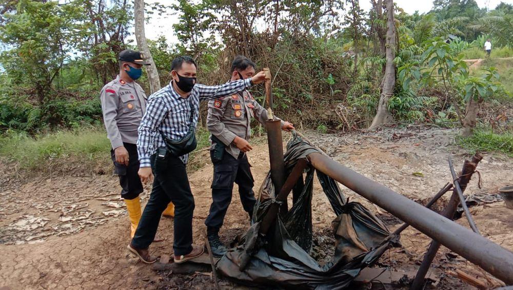 Penertiban Ilegal Drilling di Sarolangun Kembali Tak Temukan Pelaku.