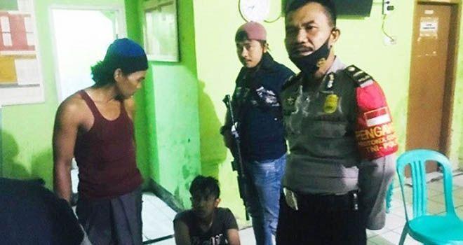 Pelaku begal saat diamankan di Mapolsek Mauk. Foto: Radar Banten