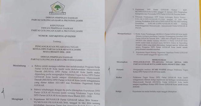 Asyari Syafi'i Ditunjuk Jabat Plt Ketua