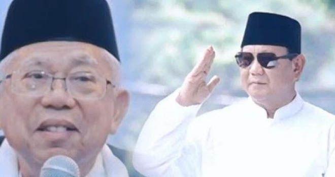 Ma'ruf Amin dan Prabowo Subianto