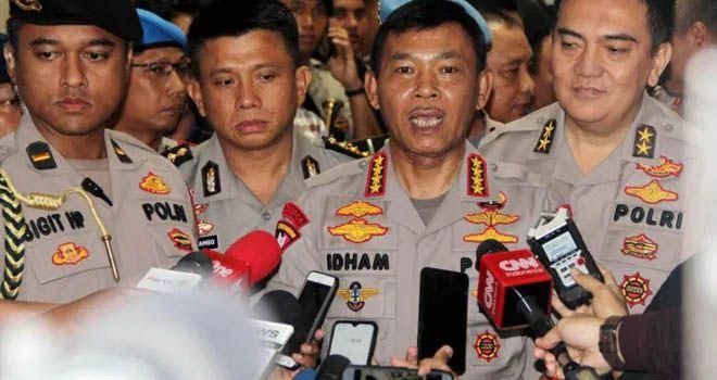 Kapolri Idham azis memberikan keterangan. Foto: Iwan Tri/Fajar Indonesia Network