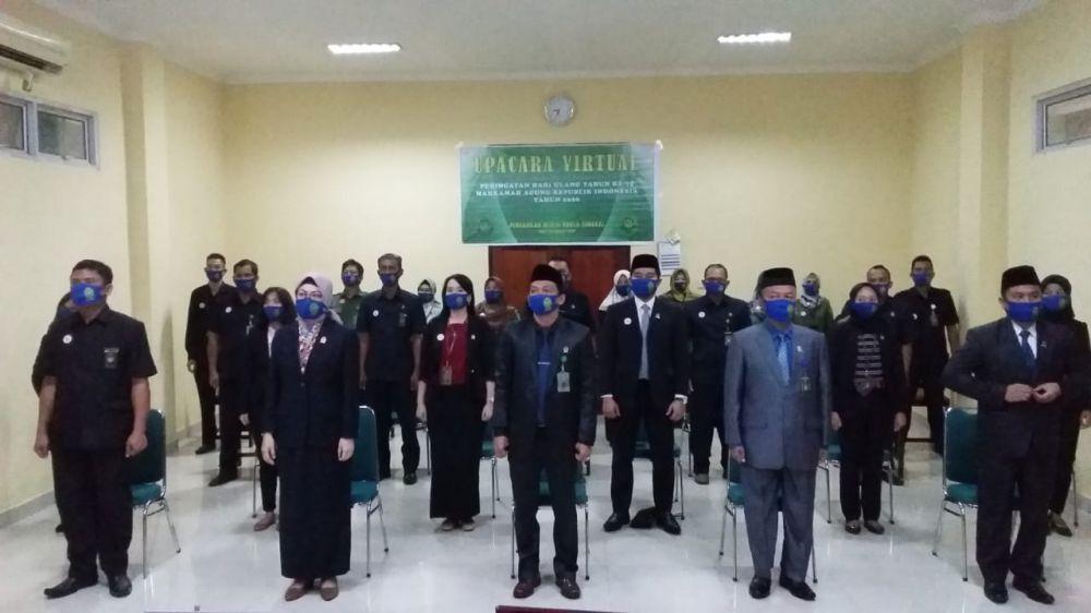 PN Kualatungkal Ikuti Upaca Virtual HUT Mahkamah Agung Ke-75