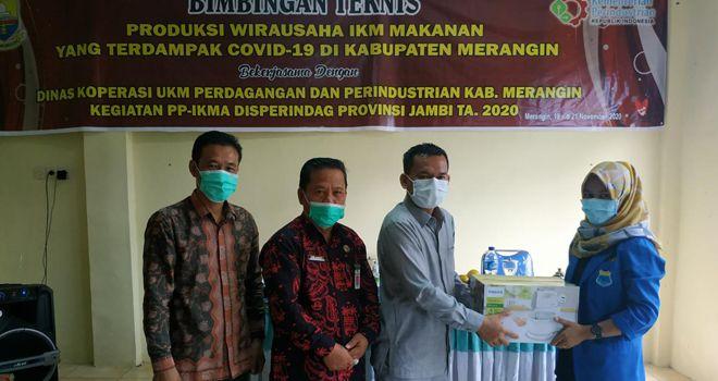 Disperindag Provinsi Gelar Bimtek IKM Makanan Terdampak Covid-19