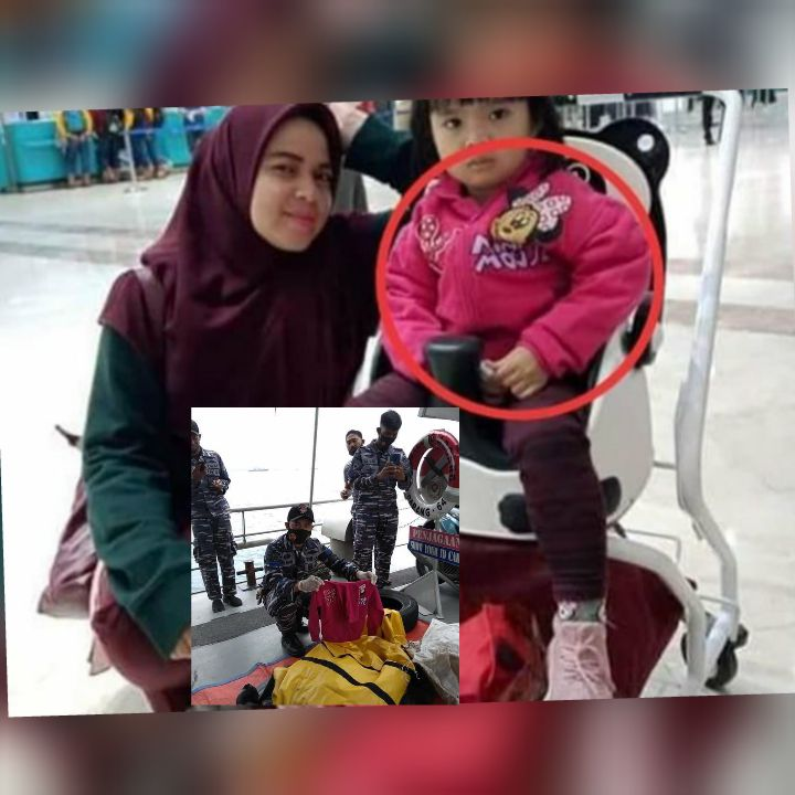 Bocah pemilik jaket pink bergambar kepala 'Minnie Mouse' yang ditemukan TNI AL pada kedalaman 23 meter di bawah permukaan air laut.