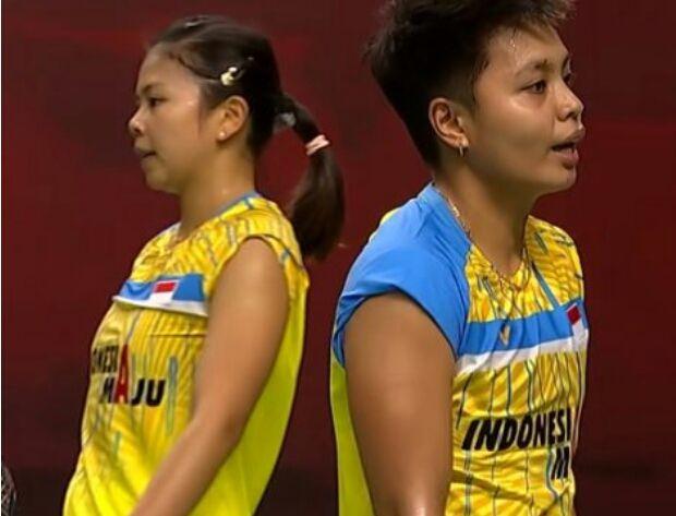 Pasangan ganda putri Indonesia Greysia Polii/Apriyani Rahayu. (BWF TV/Youtube)