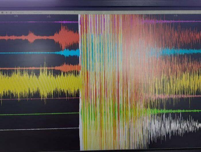 Gempa Malang yang terekam di pos pendataan Gunung Merapi.