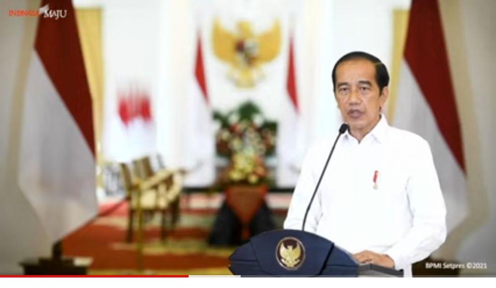 Jokowi dalam siaran akun YouTube Sekretariat Presiden, Minggu (25/4/2021)