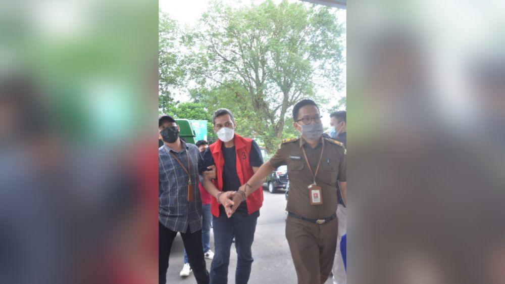 DPO yang berhasil ditangkap oleh Kejati Jambi langsung ditahan di Kajati Jambi