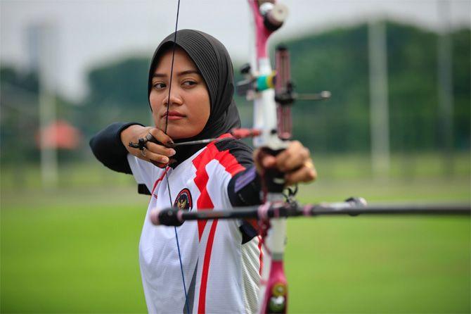 Diananda Choirunisa dan Riau Ega lolos ke perempat final Olimpaide Tokyo 2020. (NOC Indonesia)