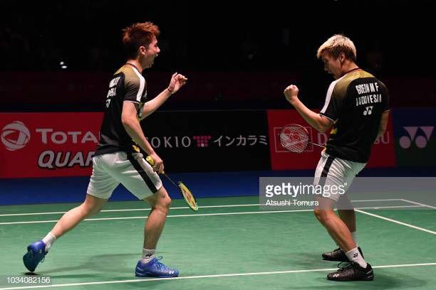 Marcus Fernaldi Gideon dan Kevin Sanjaya Sukamuljo/Atsushi Tomura/Getty Images